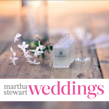 Martha Stewart Weddings Interviews SAHAJA Essential Oils for Bridal Scents